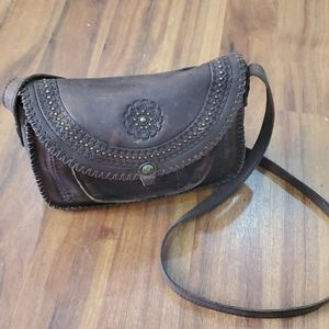 Patricia Nash Euro Beaumont Leather Crossb…